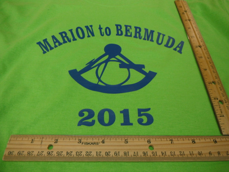 Screen print Marion to Bermuda 2015 with sextant logo